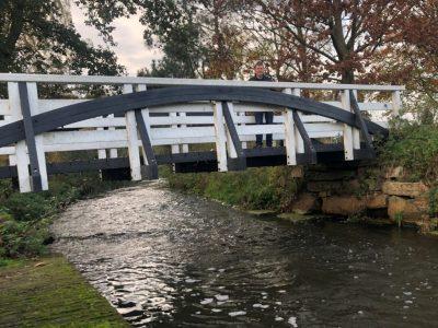 Fiets - Loopbrug naast spoor (3)
