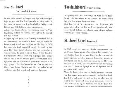 Historie St. Jozef binnenkant