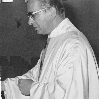 Rector Biemans in de jaren 50.
