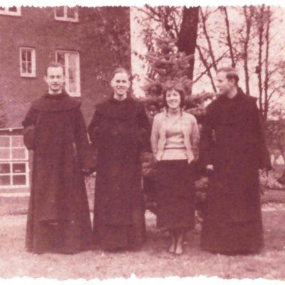V.l.n.r Koenraad Wouben, De tweeling Clemens en Fidelus.