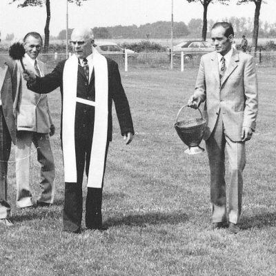 V.l.n.r. Jo van Veghel, Pater Lodevicus, Piet Janssen